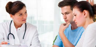 Couple visiting doctor