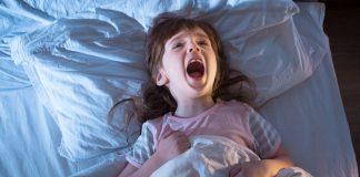 A girl who had a nightmare