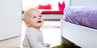 An eight month-old baby